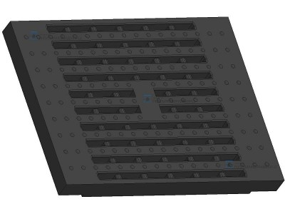 Решетка водоприемная щелевая(500×633) класс Е600 DN 500