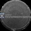 """Люк полимерпесчанный ПП класс """"С"""" 9 т. Черный (d770мм*h120мм)h=крышки 50 мм,вес 50 кг (1)"""