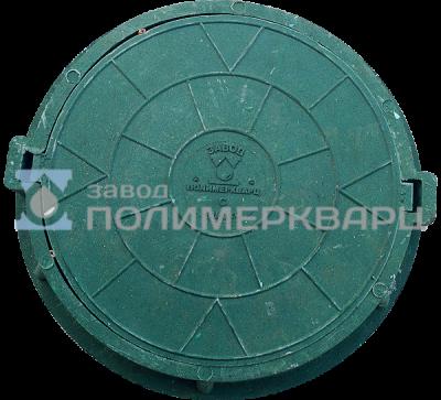 """Люк полимерпесчанный ПП класс """"С"""" 9 т. Зеленый (d770мм*h120мм)h=крышки 50 мм,вес 50 кг (1)"""