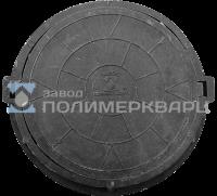 """Люк полимерпесчанный ПП класс """"Т"""" 15 т. Черный (d770мм*h120мм) h=крышки 60 мм, вес 55 кг (1)"""