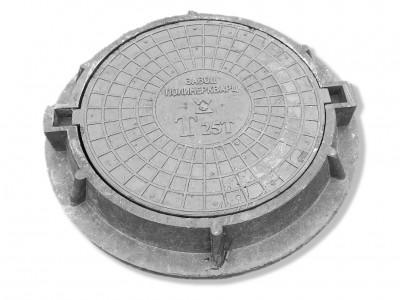 """Люк полимерпесчанный ПП класс """"Т"""" 25 т. Черный (d770мм*h120мм) h=крышки 80 мм, вес 65 кг (1)"""