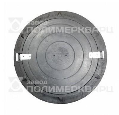 """Люк полимерпесчанный ПП класс """"Л"""" 6 т. Черный (d870мм*630*h120мм)h=крышки 40 мм, вес 55 кг"""