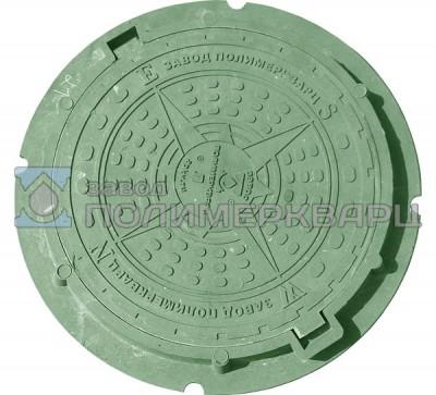 """Люк полимерпесчаный облегченный класс """"Л"""" """"Садовый"""" Компас, 1,5 тонны (зеленый)"""