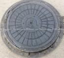"""Люк полимерпесчанный ПП класс """"Л"""" 6 т. Черный (d800мм*h80мм)h=крышки 35 мм, вес 35 кг."""