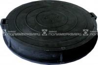 """Люк полимерпесчанный ПП класс """"Л"""" 6 т. Черный (d740мм*h110мм)h=крышки 40 мм, вес 45 кг."""