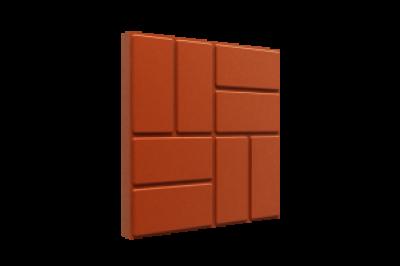 Плитка ПП 33*33*3,5 Усиленная красная, серая, шоколадая